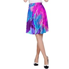 Stormy Pink Purple Teal Artwork A Line Skirts