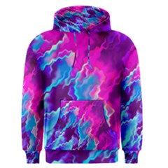 Stormy Pink Purple Teal Artwork Men s Pullover Hoodies