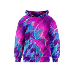 Stormy Pink Purple Teal Artwork Kid s Pullover Hoodies