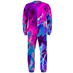 Stormy Pink Purple Teal Artwork OnePiece Jumpsuit (Men)