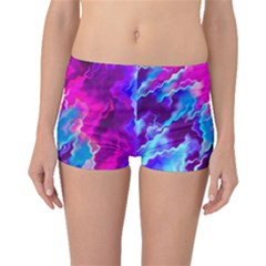Stormy Pink Purple Teal Artwork Boyleg Bikini Bottoms