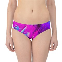 Stormy Pink Purple Teal Artwork Hipster Bikini Bottoms