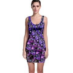 Blue Purple Glass Bodycon Dress