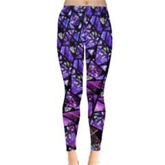 Blue purple Glass Leggings