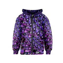 Blue purple Glass Kids Zipper Hoodie