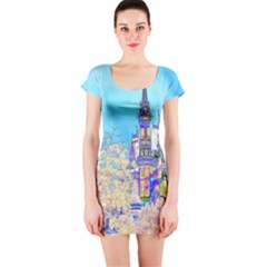 Castle For A Princess Short Sleeve Bodycon Dresses