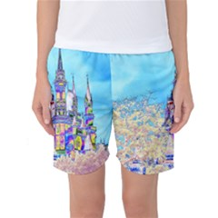 Castle For A Princess Women s Basketball Shorts