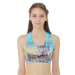 Castle For A Princess Women s Sports Bra With Border