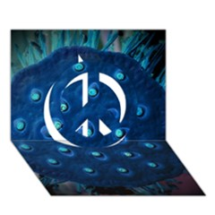 Blue Plant Peace Sign 3d Greeting Card (7x5)