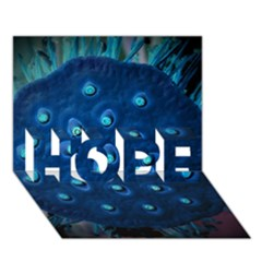 Blue Plant HOPE 3D Greeting Card (7x5)