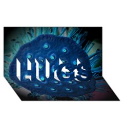 Blue Plant Hugs 3d Greeting Card (8x4)