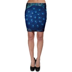 Blue Plant Bodycon Skirts
