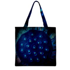 Blue Plant Grocery Tote Bags