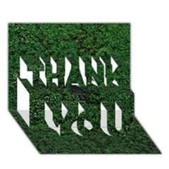 Green Moss Thank You 3d Greeting Card (7x5)