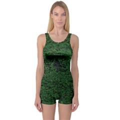 Green Moss Women s Boyleg One Piece Swimsuits
