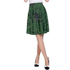 Green Moss A-Line Skirts