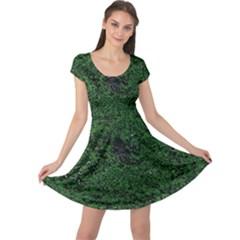 Green Moss Cap Sleeve Dresses