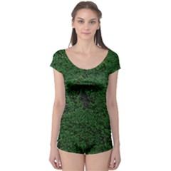 Green Moss Short Sleeve Leotard