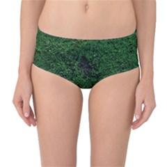 Green Moss Mid-Waist Bikini Bottoms