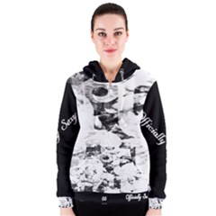 Officially Sexy Candy Collection Black & White Women s Zipper Hoodie