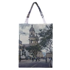 Cathedral At Historic Center Of Bogota Colombia Edited Classic Tote Bags