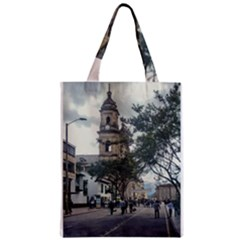 Cathedral At Historic Center Of Bogota Colombia Edited Zipper Classic Tote Bags