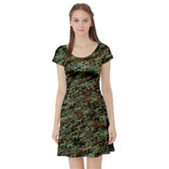 Horseflage Short Sleeve Skater Dresses