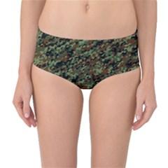 Horseflage Mid Waist Bikini Bottoms