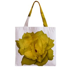 Isolated Yellow Rose Photo Zipper Grocery Tote Bags
