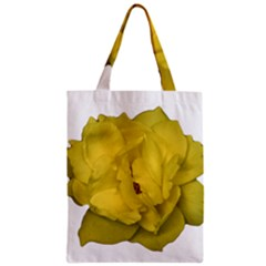 Isolated Yellow Rose Photo Zipper Classic Tote Bags