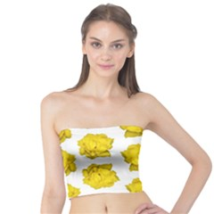 Yellow Rose Pattern Print  Women s Tube Tops