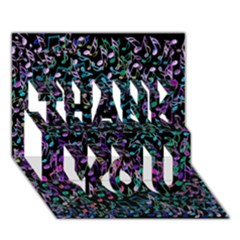 Improvisational Music Notes THANK YOU 3D Greeting Card (7x5)