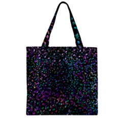 Improvisational Music Notes Zipper Grocery Tote Bags