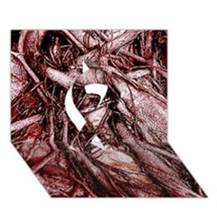 The Bleeding Tree Ribbon 3d Greeting Card (7x5)