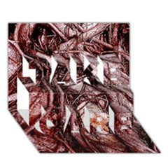 The Bleeding Tree TAKE CARE 3D Greeting Card (7x5)