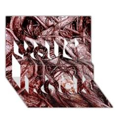 The Bleeding Tree You Rock 3D Greeting Card (7x5)