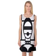 Bondage Sleeveless Satin Nightdresses