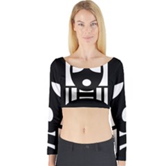 Masked Long Sleeve Crop Top