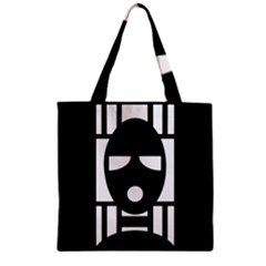 Masked Zipper Grocery Tote Bags