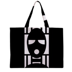 Masked Zipper Tiny Tote Bags