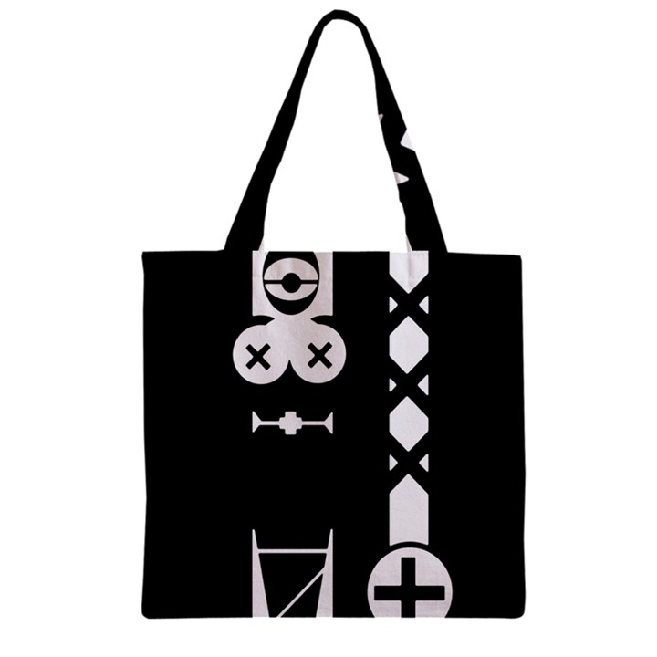 Tied-Up Zipper Grocery Tote Bags
