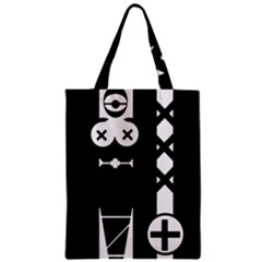 Tied-Up Zipper Classic Tote Bags