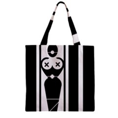 Submissive Zipper Grocery Tote Bags