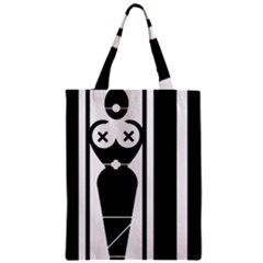 Submissive Zipper Classic Tote Bags