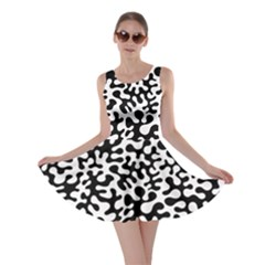 Black And White Blots Skater Dress