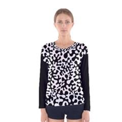 Black and White Blots Women s Long Sleeve T-shirt