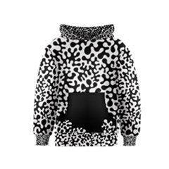 Black and White Blots Kid s Pullover Hoodie