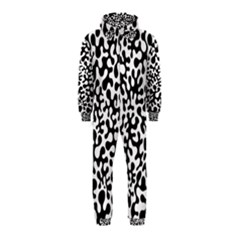 Black And White Blots Hooded Jumpsuit (kids)