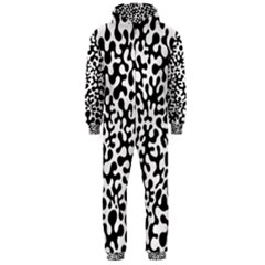Black and White Blots Hooded Jumpsuit (Men)