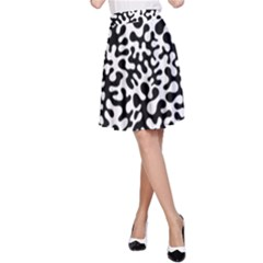 Black and White Blots  A-Line Skirts